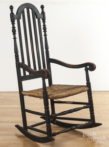 New England banisterback arm chair rocker