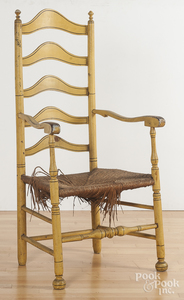 Delaware Valley five-slat ladderback armchair