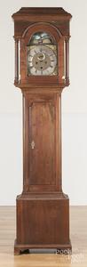 Chippendale mahogany tall case clock