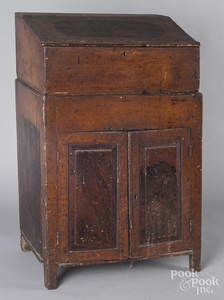 Diminutive painted pine two-part lectern