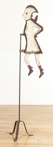 Painted wooden soldier weathervane