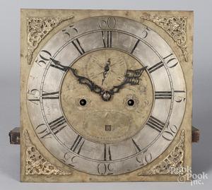 Brass clock movement