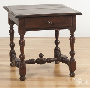 William and Mary style one-drawer work table