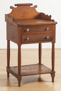 Pennsylvania cherry two-drawer stand
