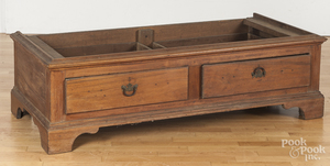 Pennsylvania Chippendale walnut schrank base