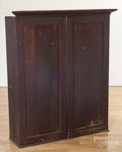 Mahogany bookcase top