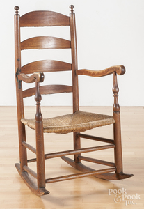Ladderback rocking chair