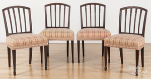 Set of four Federal style mahogany dining chairs.