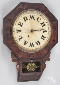 Ansonia mahogany wall clock