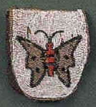 Plains Indian beaded belt purse, late 19th c., wit