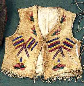 Native American bead decorated child's vest, 19th.