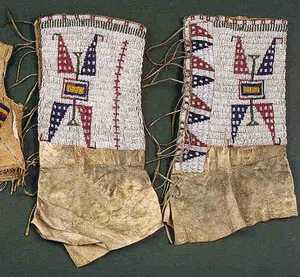 Plains Indian over-the-boot leggings, late 19th c.
