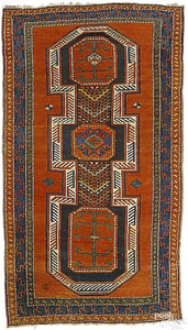 Kazak rug, ca. 1900, with elongated central medall