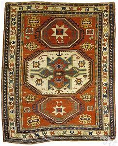 Lori Pambok Kazak rug, late 19thc., with 3 central