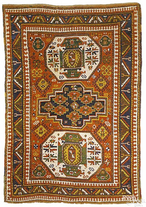 Caucasian Lori Pambok rug with 3 central medallion