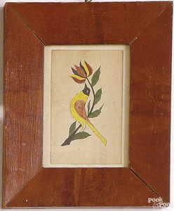 Pennsylvania watercolor of a yellow, red, green an