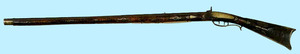 Pennsylvania percussion long rifle, early 19th c.,