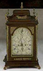 English mahogany bracket clock, early 19th c., the