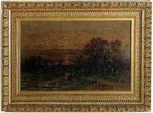 Christopher Shearer (American 1840-1926) Oil on ca