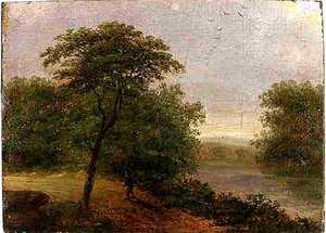 James Arthur O'Connor(English, 1792-1841) - Oil on