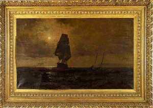 Franklin D. Briscoe(American, 1844-1903) - Oil ona