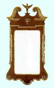 Georgian mahogany and giltwood Constitution mirror