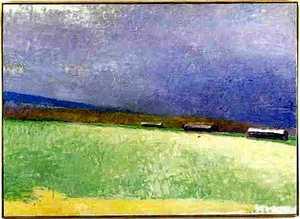 Wolf Kahn(American, b. 1927) - Oil on canvas of 3o