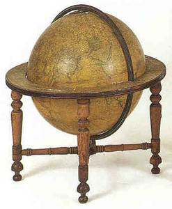 Large English terrestrial globe, ca. 1825, by S.S.