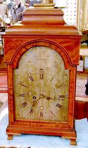 Rare Maryland mahogany bracket clock, ca. 1775, w