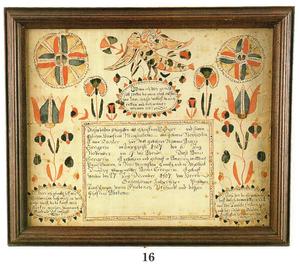 Martin Brechall(Active 1783-1830) - Pennsylvania