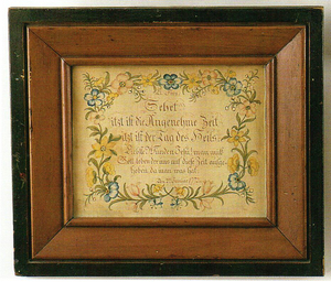 Watercolor and ink on paper text, dated 1772, pos