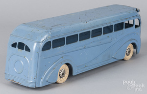 Kingsbury pressed steel wind-up Greyhound bus