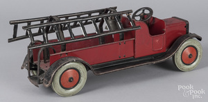 Chein pressed steel fire ladder truck