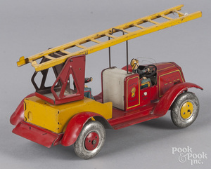 Charles Rossignol tin litho fire ladder truck