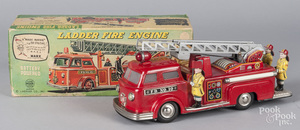 Linemar battery operated Ladder Fire Engine