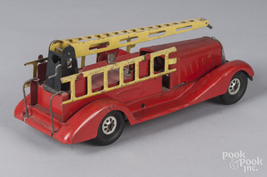 Girard pressed steel water tower fire truck