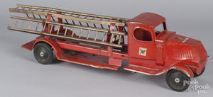 Turner pressed steel fire ladder truck