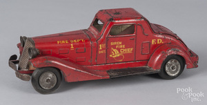 Marx pressed steel friction Siren Fire Chief