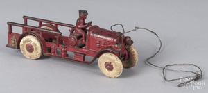 Kenton cast iron ladder truck