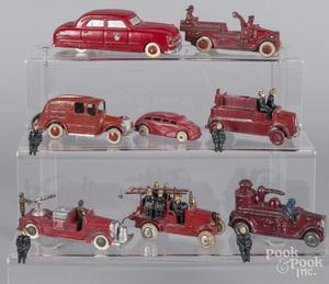 Eight slush metal fire related vehicles
