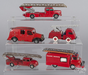 Five small fire related vehicles