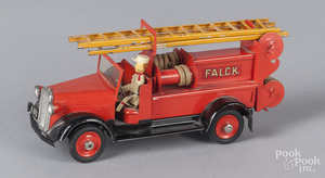 Tekno tin litho fire ladder truck