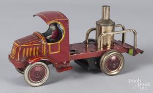 Nifty tin litho Mack fire pumper truck