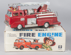 Japanese Bandai battery fire engine ladder truck