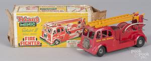 Triang Minic Series II plastic fire engine truck