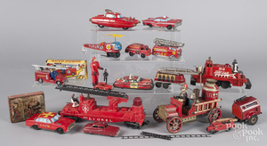 Collection of miscellaneous fire related vehicles