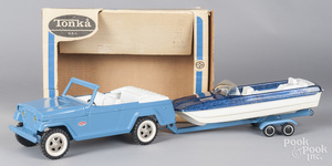 Tonka pressed steel Jeepster Runabout, no. 2460