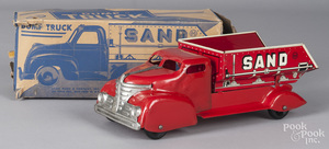 Marx pressed steel and tin litho Sand dump truck