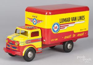 Lumar Van Lines tin litho delivery truck