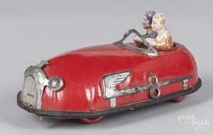 Lindstrom tin litho windup bumper car